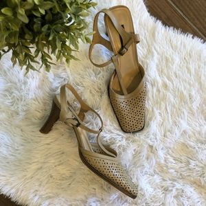 Andrea Collection Square toe heels Size 10